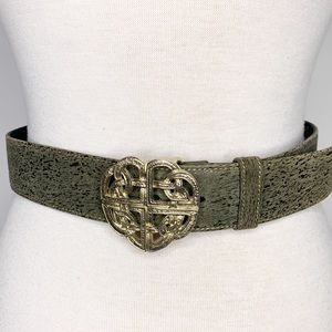 Escada leather belt with knotted buckle